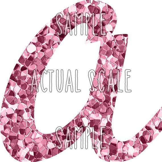 Pink glitter letter clip art: digital alphabet by HoneyClipArt