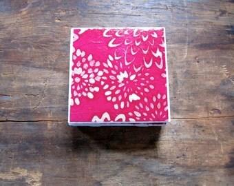 Tile Coasters, Pink Flower Coasters, Flower Coasters, Pink Coasters, Coasters Drink Coasters, Ceramic Coasters, Table Coasters