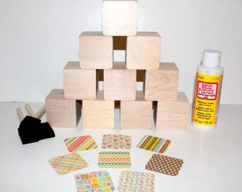 Pirate decor diy baby blocks baby shower craft by for Child craft wooden blocks