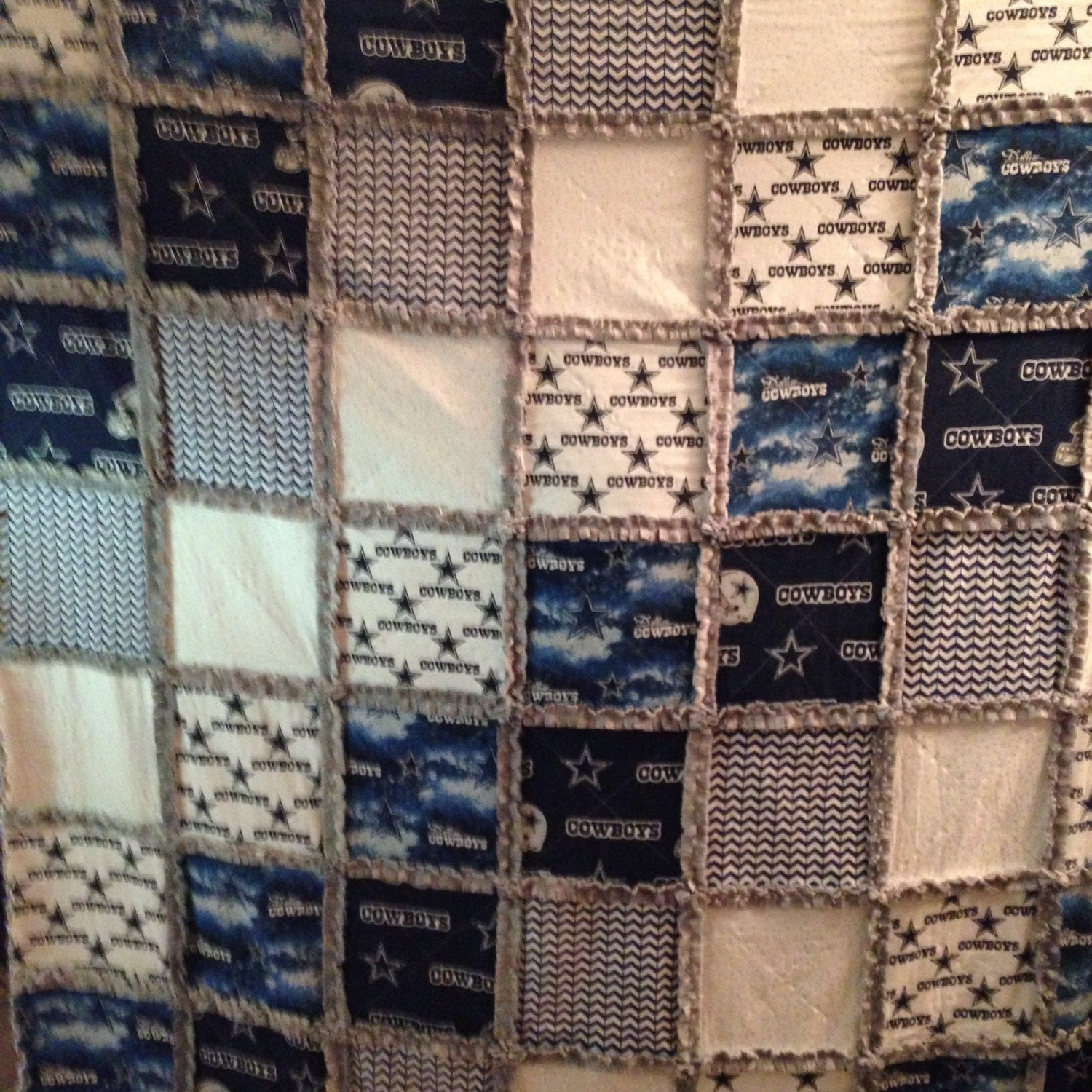 home decor fabric dallas dallas cowboys rag quilt with cotton and soft minky large 10979