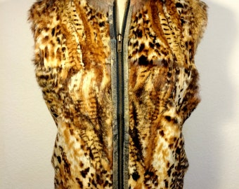 FREE   SHIPPING   French Rabbit Fur Vest