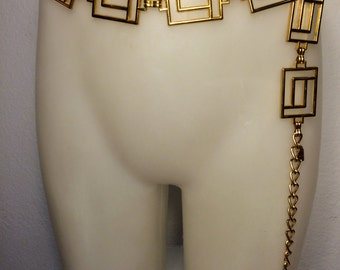 FREE  SHIPPING    gold link Chain  belt