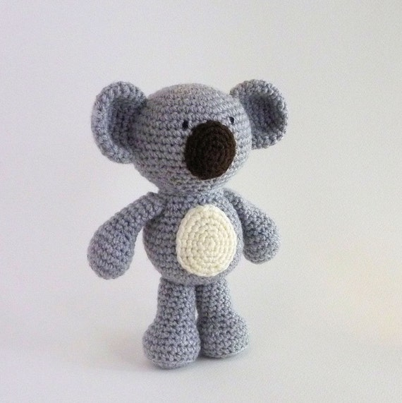 Amigurumi Koala Keychain : Amigurumi Koala Plush Koala Australian Animal Toy Crochet