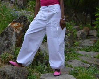 Womens  Boho Cotton Baggy Loose Harem pants Plus size.