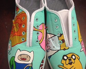 Adventure Time inspired shoes