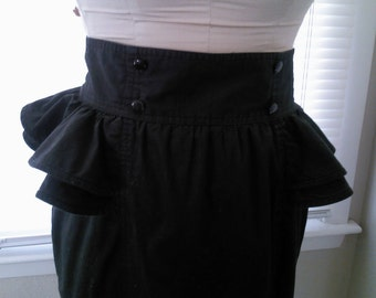 Vintage Black Peplum Skirt