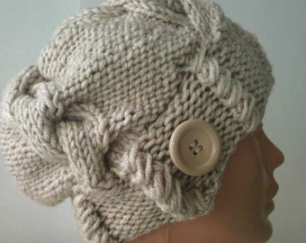 hand knit, knitted hat,  woman knit hat, knit hat, womens knit hats