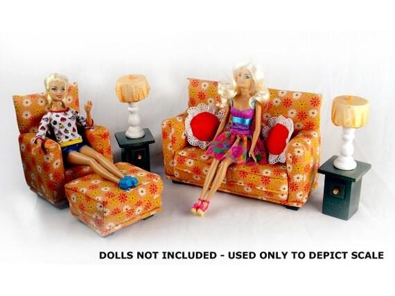 Vintage Stuffed Doll Living Room Set