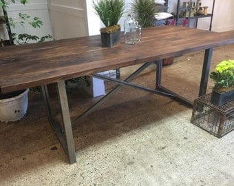 Rustic Solid Walnut Dining Table
