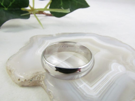 vintage silver plated wedding band ring by cottagechicjewels
