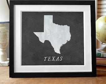 Texas chalkboard etsy texas state print black night sky state print design texas art texas gift gumiabroncs Gallery