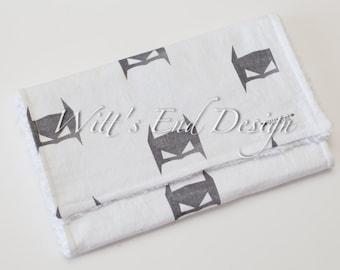 Modern Gender Neutral Burp Cloth MIX & MATCH-Super Absorbent Cotton Chenille-Batman Forever