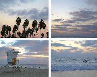 California Beach Print Set, Coastal Photography,  Seascapes, Wall Decor, Ocean Photographs, Tropical wall art - California Collection