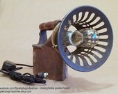 RESERVED for TO Steampunk Lamp made from upcycled Antique Sad Iron