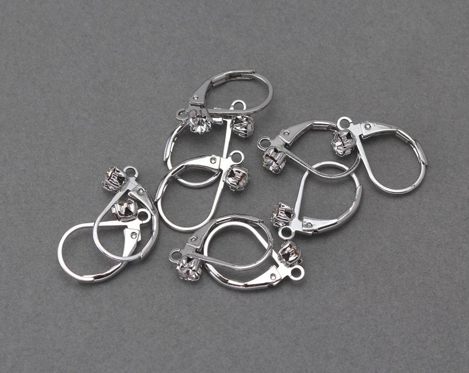 Cubic Hook Earring Component Wedding Bridal