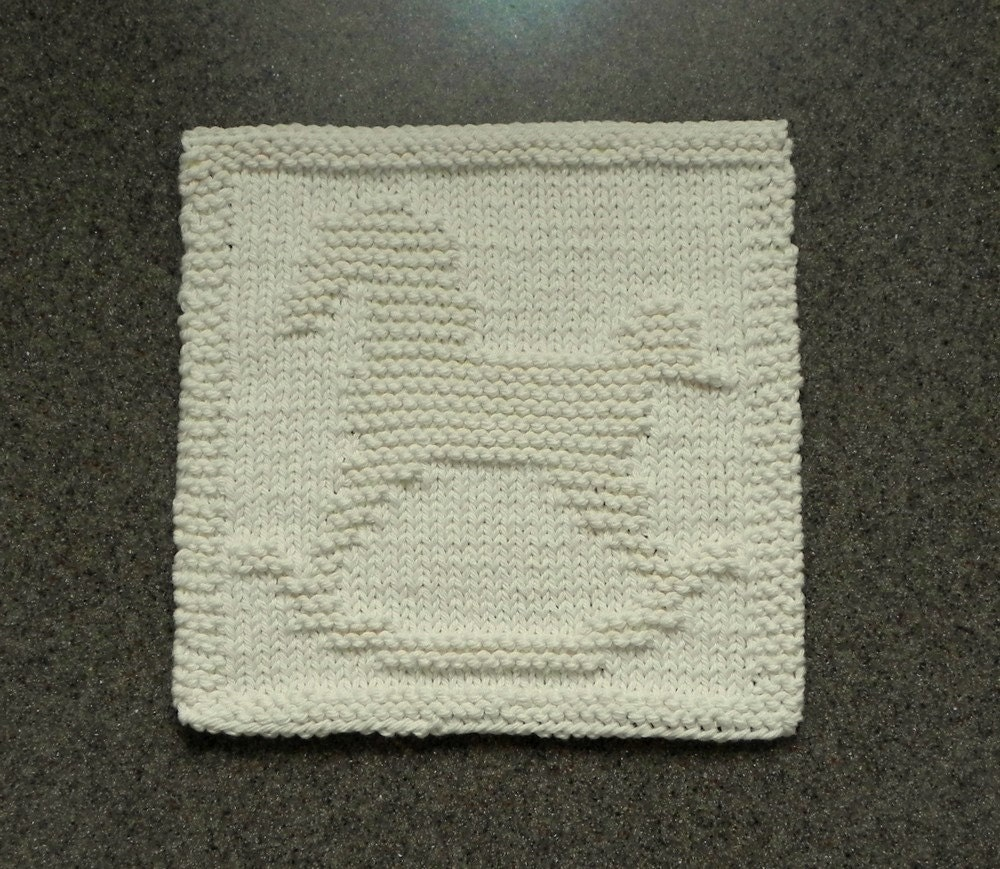 Knit Dishcloth Pattern Horse : ROCKING HORSE Knit Dishcloth. Hand Knitted by AuntSusansCloset