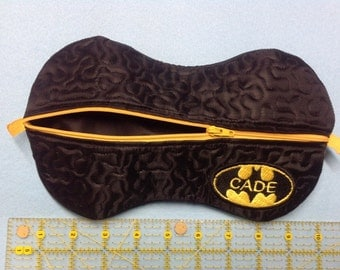 batman zippered wet wipes/Cosmetics case. Personalized