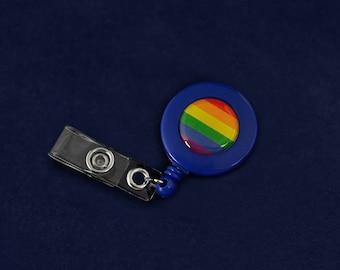 Rainbow Retractable Badge Holder (RE-BADGE-RB)