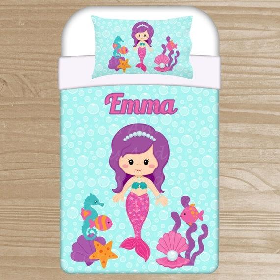 Personalized Mermaid Bedding Set Mermaid Duvet by ...