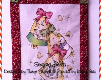 Singing Bells - Painted by Maria Ruiz, Painting With Friends E Pattern