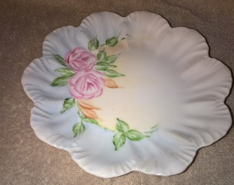 Vintage Hand Painted Flower Plate