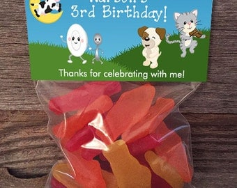 Mother Goose Treat Bags, Nursery Rhymes Treat Bags, Mother Goose Birthday, Nursery Rhyme Birthday, Nursery Rhyme Baby Shower, Mother Goose