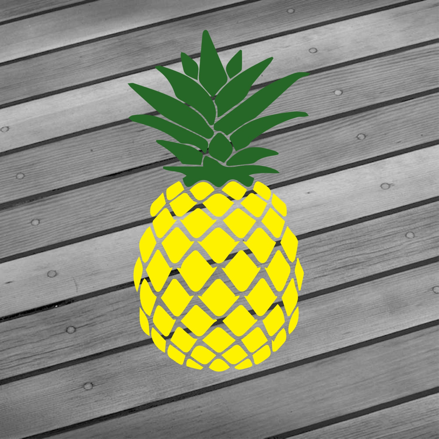 Pineapple Decal Pineapple Sticker Pineapple Car By