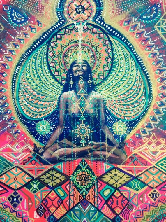 Highest High from deep inside Yoga Meditation visionary art