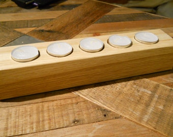 Oak & Maple Tealight Holder - TCH007