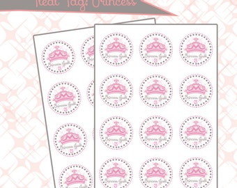 Treat Tag/ Cupcake Topper: { Princess }