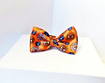 Orange and Blue Jewels Bow Tie