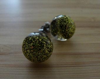 Fine Gold Glitter Earrings