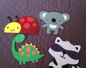 Set of 4 critter diecuts