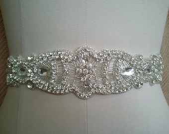 High quality bridal sash, wedding dress belt