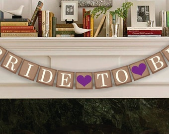 Bridal Shower Decorations - Bridal Shower Banners - Bride To Be Banner - Wedding Garland - Sign - Photo Prop