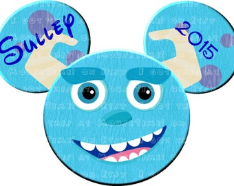 IRON-ON Monsters, Inc. Ears - Sulley! - Mouse Ears Tshirt Transfer