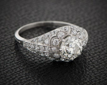 Estate Diamond Engagement Ring - Vintage Old European Cut Diamond - Estate Diamond Jewelry Collection