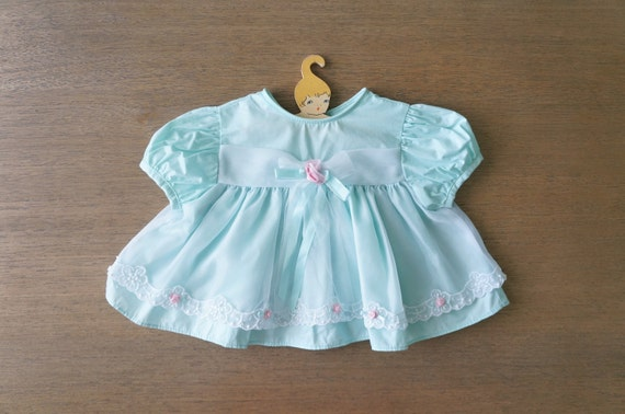 Vintage Baby Clothes Baby Girl Mint Tuelle by DearKaleidoscope