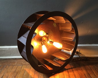 Industrial ceiling lamp chandelier antique gear work