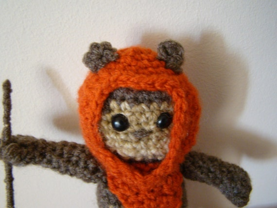 Free Crochet Star Wars Doll Patterns : PDF Crochet pattern Star Wars Amigurumi Ewok Crochet doll