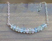Natural Beryl Necklace with Morganite, Aquamarine, Heliodor, Yellow Beryl, and Sterling Silver