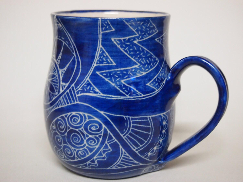 Mug Unique Coffee Mug Handmade And Hand Decorated Mug For