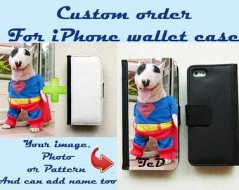 Custom Wallet Case for iPhone 7, iPhone 6, iPhone 6s, iPhone 6 Plus, iPhone 5, iPhone 5s, iPhone 4/4s, Leather Wallet Case, Flip Case