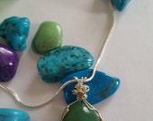 wire wrapped, pendant, wire wrapped pendant, wire wrapped jewelry, sterling silver, 925 sterling silver, handmade, gemstone necklace
