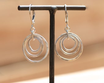 Layers of Silver Earrings