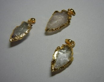 Natural Gemstone Arrowhead Pendant