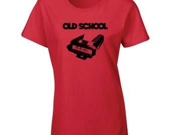 Old School Retro style Pager hand printed T shirt