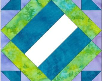 Album Block 3 Paper Piece Foundation Quilting Block Pattern