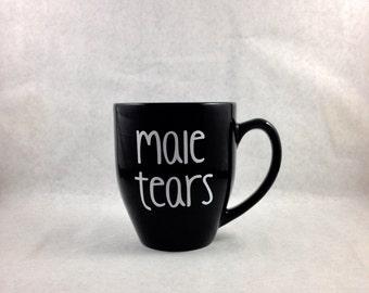 Male Tears 16oz Funny Coffee Mug Featured on Buzzfeed UK