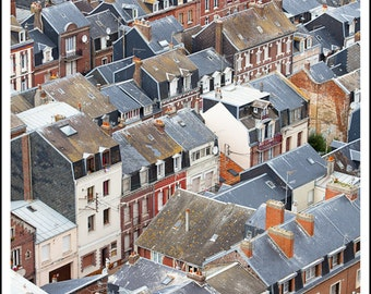 Rooftop view in Le Treport, France